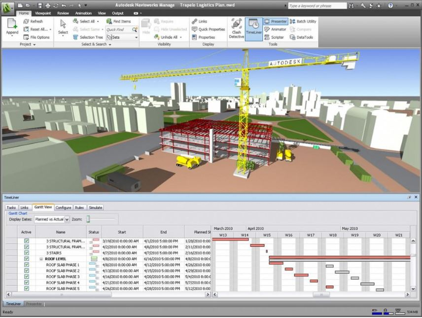 Virtual Design - Navisworks timeline